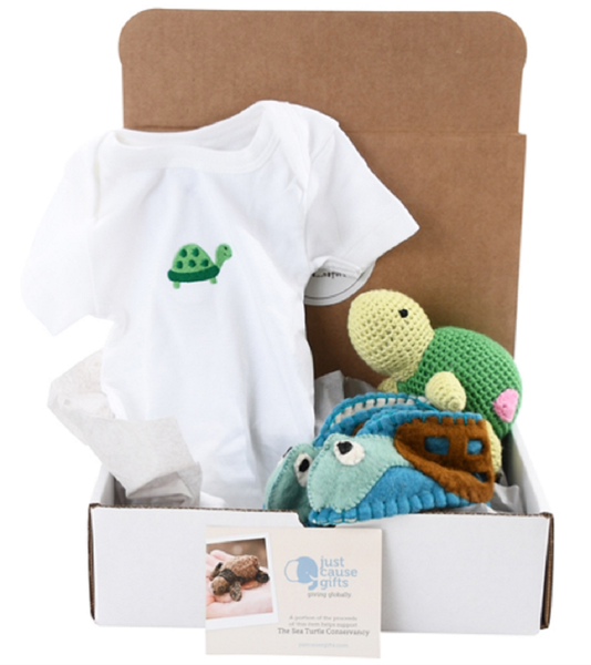 Baby Gifts that Give Back - Socially Responsible Gifts - Save the Sea Turtles