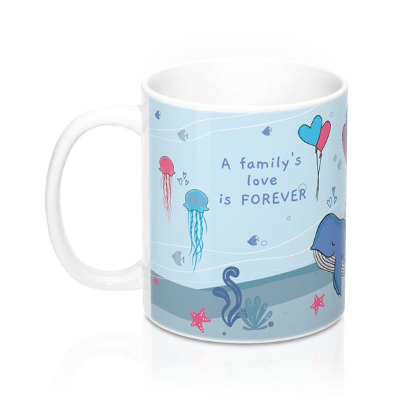 A Family's Love is Forever – Unwind with our Lovely Designer Under-the-Sea Ceramic Mug – 11oz