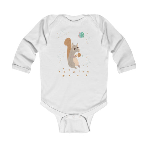 Woodland Squirrel – Infant & Toddler Long-Sleeve Bodysuit - Unisex