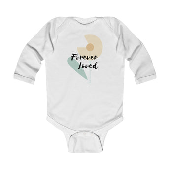 Forever Loved – Flower, Light – Infant & Toddler Long-Sleeve Bodysuit - Girls