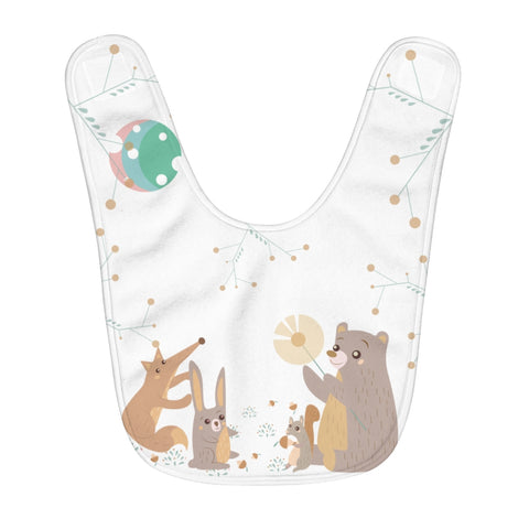 Woodland Animals - Infant & Toddler Fleece Baby Bib