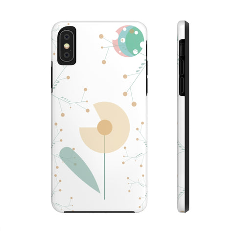 Impact-Resistant Phone Case for iPhone X – Woodland Flower