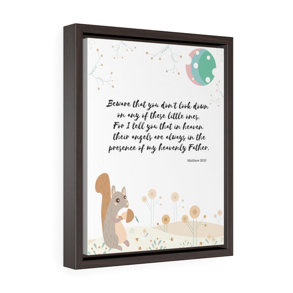 "Inspirational Bible Verse Wall Art for Baby's Nursery – Framed, 11"" x 14"" - Beware That You Don't Look Down"
