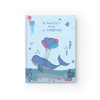 A Family's Love is Forever – Under-The-Sea Hardcover Journal - For Your Baby's Precious Moments