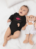 No Kisses Today to Keep the Germs at Bay – Lips - Infant & Toddler Long-Sleeve Bodysuit - Unisex