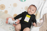 No Kisses Today to Keep the Germs at Bay – Smiley Notepad - Infant & Toddler Long-Sleeve Bodysuit - Unisex
