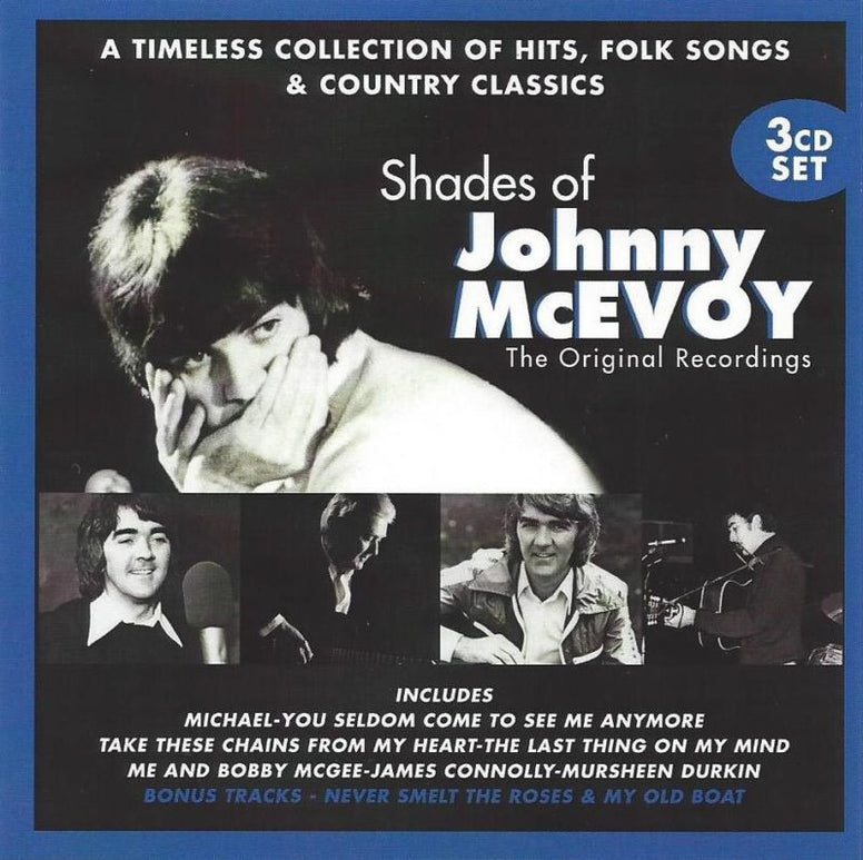 Shades of Johnny McEvoy (3CD Set) + bonus 'The Singer DVD' - Johnny McEvoy