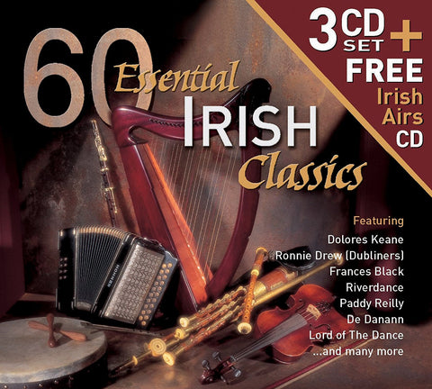 60 Essential Irish Classics- 3 CD Set + Free Irish Irish Airs CD - Various