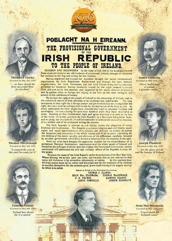 Freedom Sons - Proclamation 1916 - Irish Music Card - Greeting Card and CD