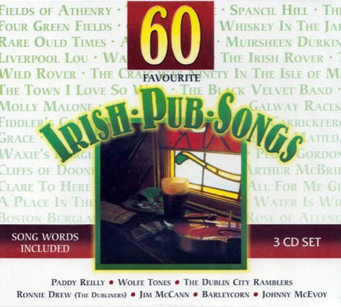 60 Favorite Irish Pub Songs (3CD Set) - Various
