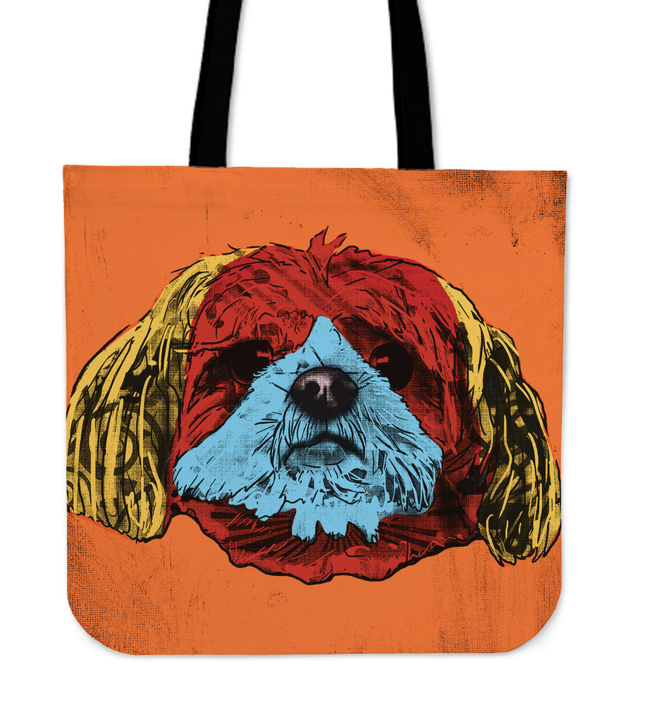 Shih Tzu Dog Breed Tote Bag (Andy Warhol Style)