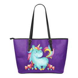 Smiling Unicorn Leather Totes (Small)
