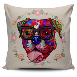 Boxer Dog Breed Pillow Covers (Glasses)