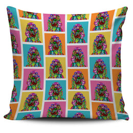Bloodhound Dog Breed Pillow Covers (Colorful Boxes)