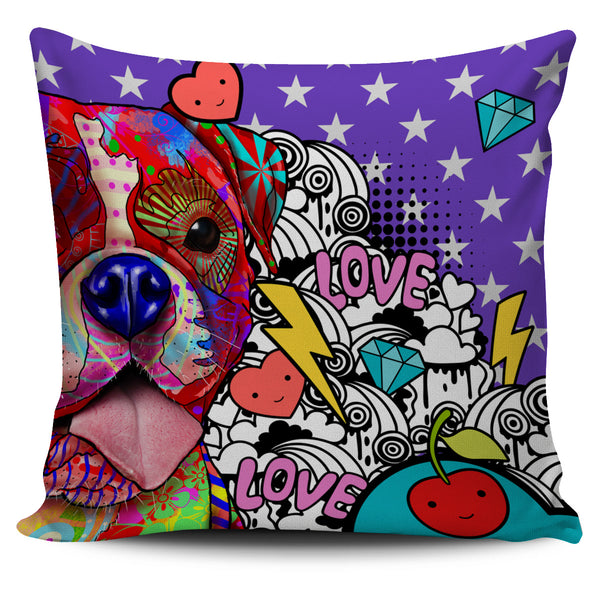 Boxer Dog Breed Pillow Covers (Fun Love Carnival)