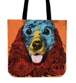 English Cocker Spaniel Dog Breed Tote Bag (Andy Warhol Style)