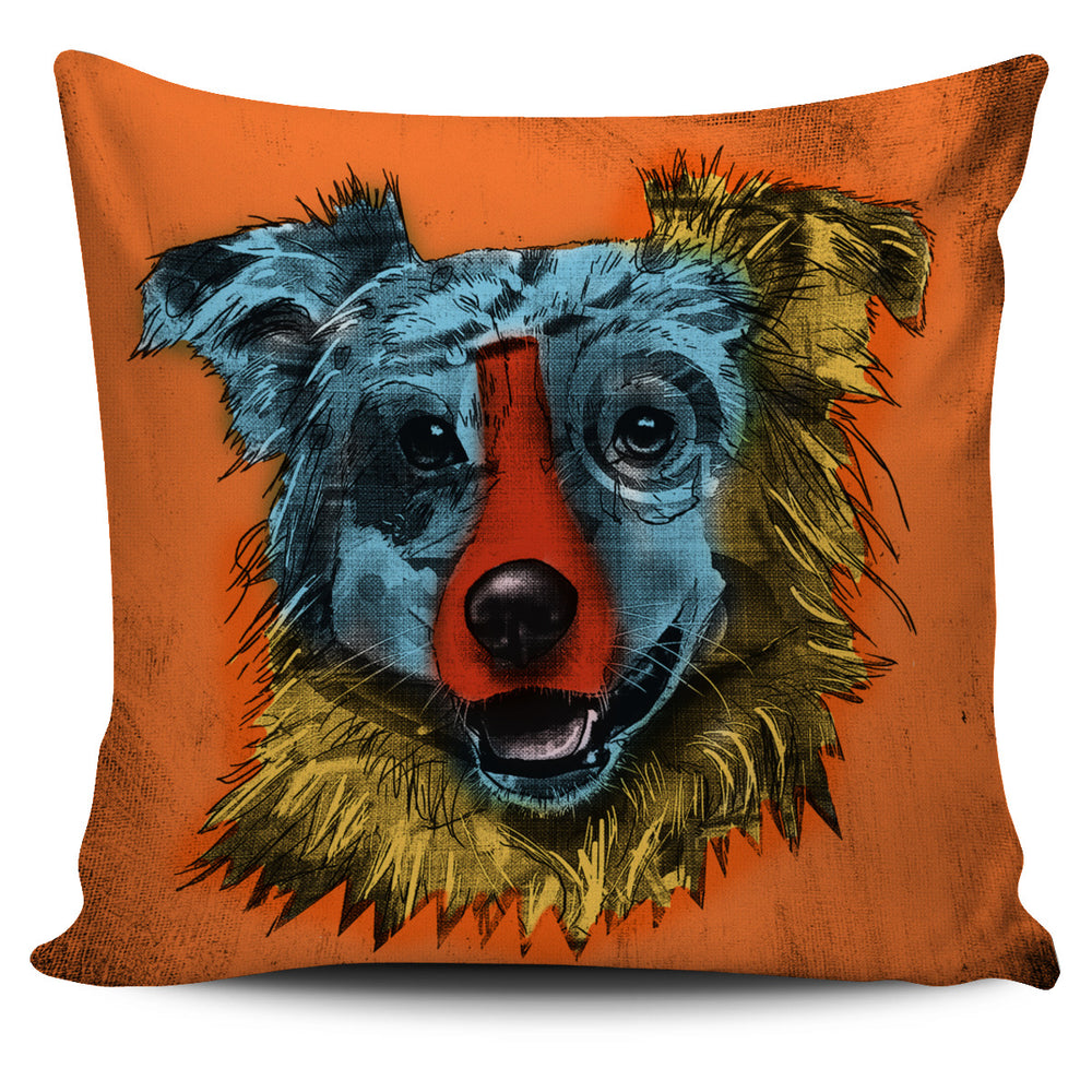 Australian Shepherd Dog Breed Pillow Covers (Andy Warhol Style)