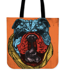 English Bulldog Dog Breed Tote Bag (Andy Warhol Style)