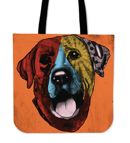Labrador Retriever Dog Breed Tote Bag (Andy Warhol Style)