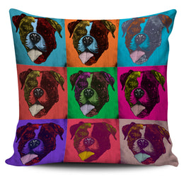 Boxer Dog Breed Pillow Covers (Andy Warhol Pattern)