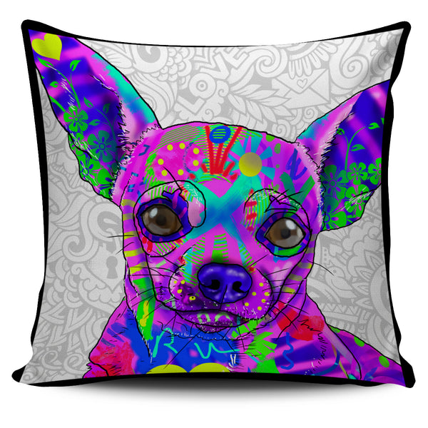 Chihuahua Dog Breed Pillow Covers (Light Love Doodles)