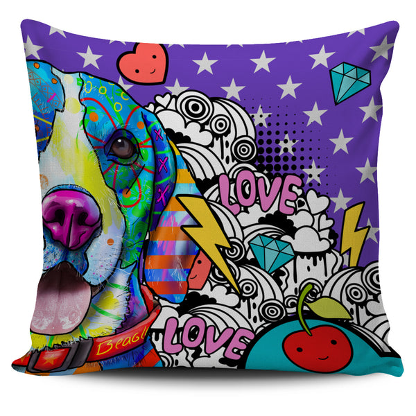 Beagle Dog Breed Pillow Covers (Fun Love Carnival)