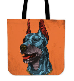Doberman Pinscher Dog Breed Tote Bag (Andy Warhol Style)