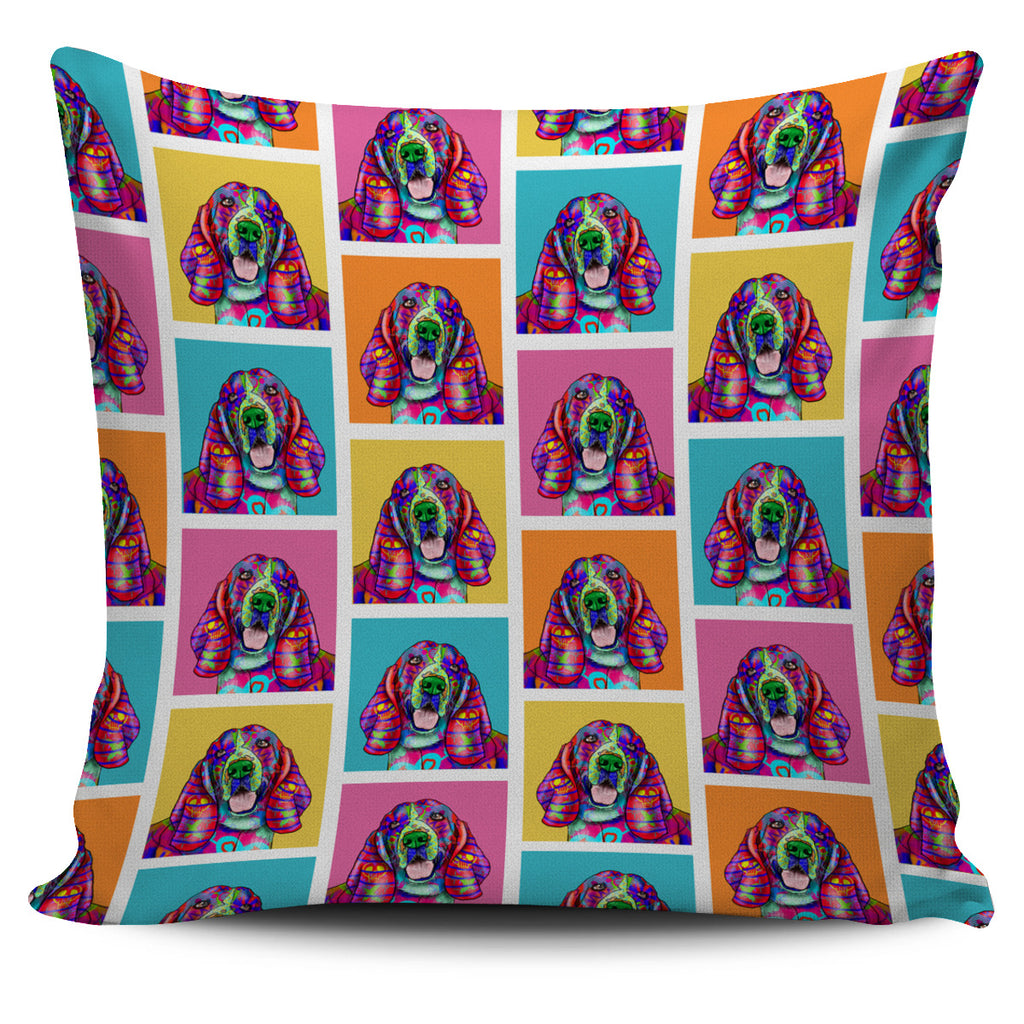 Basset Hound Dog Breed Pillow Covers (Colorful Boxes)