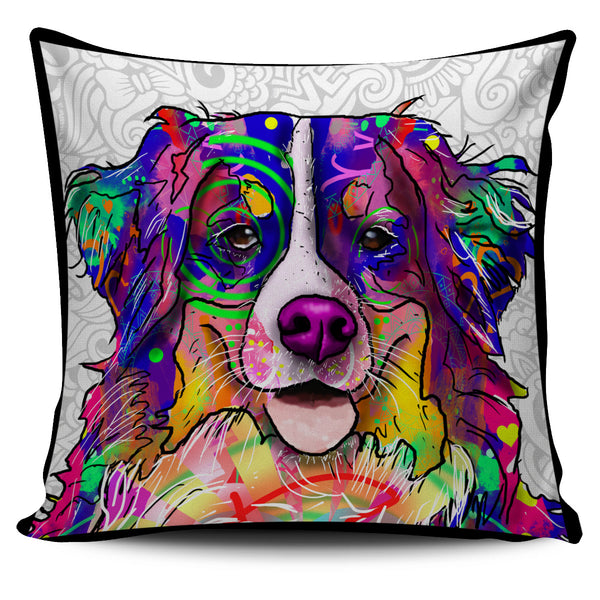 Bernese Mountain Dog Breed Pillow Covers (Light Love Doodles)