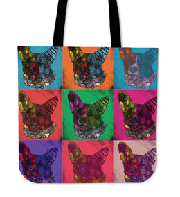 Corgi Dog Breed Tote Bag (Andy Warhol Pattern)