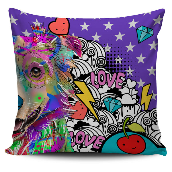 Australian Shepherd Dog Breed Pillow Covers (Fun Love Carnival)