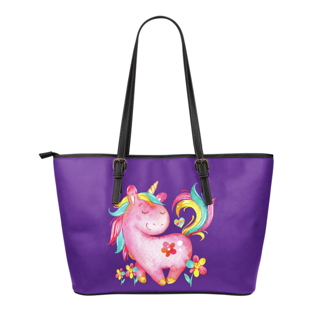 Sleeping Unicorn Leather Totes (Small)