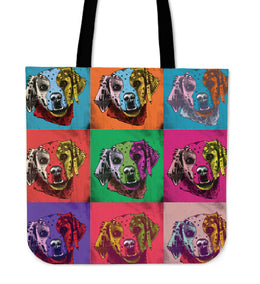 Brittany Dog Breed Tote Bag (Andy Warhol Pattern)