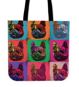 French Bulldog Dog Breed Tote Bag (Andy Warhol Pattern)