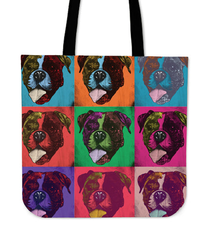 Boxer Dog Breed Tote Bag (Andy Warhol Pattern)