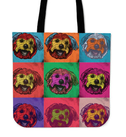 Yorkshire Terrier Dog Breed Tote Bag (Andy Warhol Pattern)