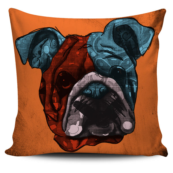 Bulldog Dog Breed Pillow Covers (Andy Warhol Style)