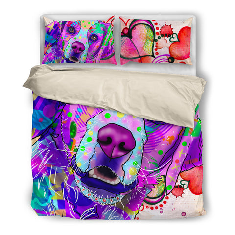 Brittany Dog Breed Duvet Cover Bedding Set (Watercolor Dreams)