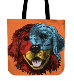 Golden Retriever Dog Breed Tote Bag (Andy Warhol Style)
