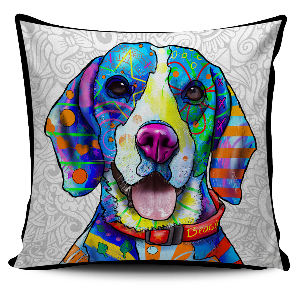 Beagle Dog Breed Pillow Covers (Light Love Doodles)