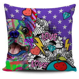 Boston Terrier Dog Breed Pillow Covers (Fun Love Carnival)
