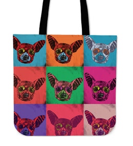 Chihuahua Dog Breed Tote Bag (Andy Warhol Pattern)