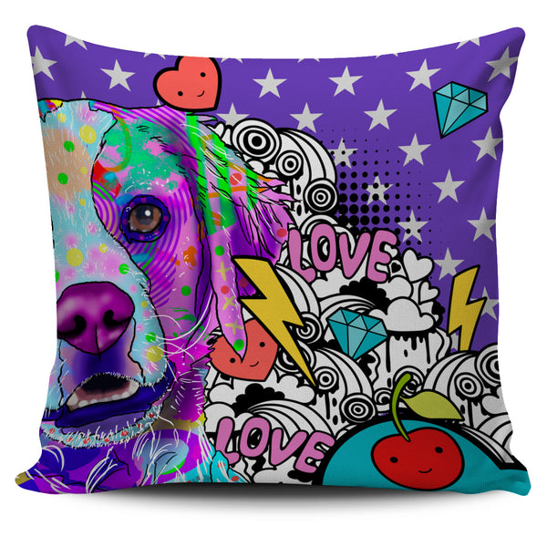 Brittany Dog Breed Pillow Covers (Fun Love Carnival)