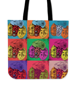 Poodle Dog Breed Tote Bag (Andy Warhol Pattern)