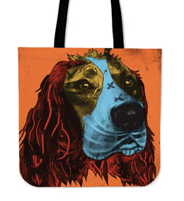 English Springer Spaniel Dog Breed Tote Bag (Andy Warhol Style)