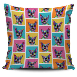 Boston Terrier Dog Breed Pillow Covers (Colorful Boxes)