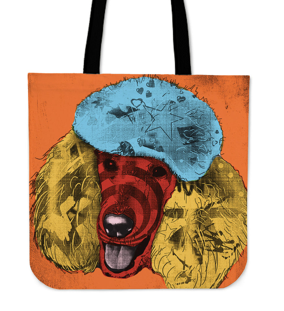 Poodle Dog Breed Tote Bag (Andy Warhol Style)