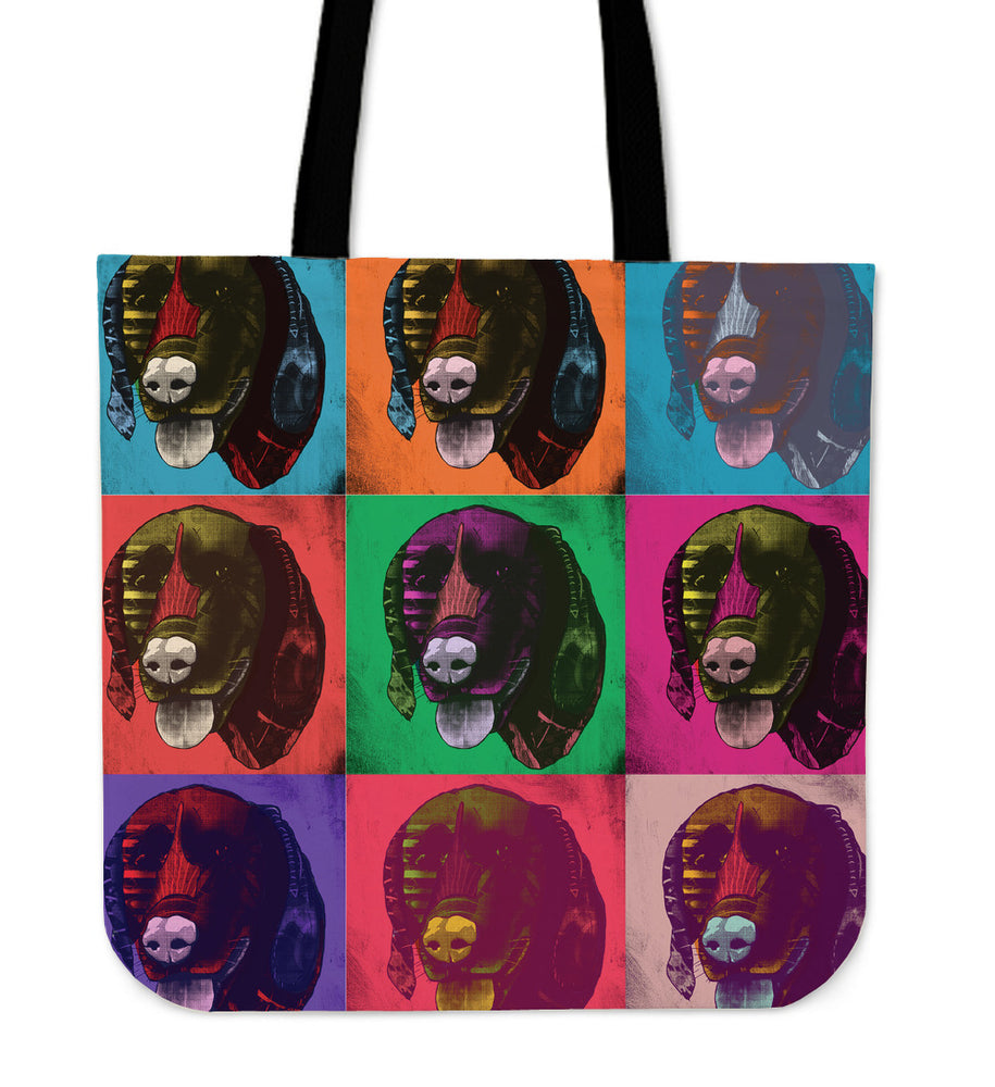 German Shorthaired Pointer Dog Breed Tote Bag (Andy Warhol Pattern)