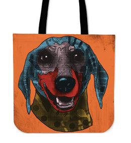 Dachshund Dog Breed Tote Bag (Andy Warhol Style)