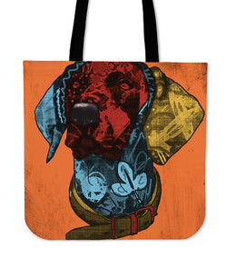 Deutsch Kurzhaar Dog Breed Tote Bag (Andy Warhol Style)
